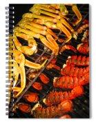 Crab Vs. Lobster Spiral Notebook