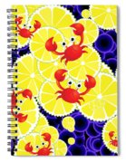 Crabs On Lemon Spiral Notebook