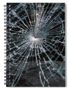Cracked Glass Of Car Windshield Spiral Notebook