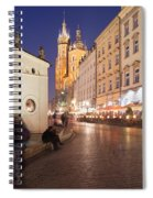 Cracow By Night In Poland Spiral Notebook