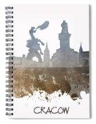Cracow City Skyline Spiral Notebook