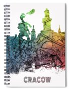 Cracow City Skyline Map Spiral Notebook