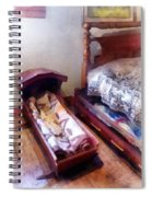Cradle With Quilt Spiral Notebook