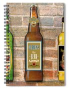 Craft Beer Collection On Brick Spiral Notebook