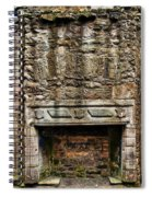 Craigsmillar Castle Fireplace Spiral Notebook