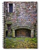 Craigsmillar Castle Kitchen Fireplace Spiral Notebook