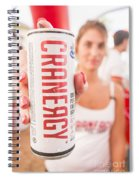 Cranberry Energy Juice  Spiral Notebook