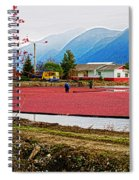 Cranberry Field Workers Spiral Notebook