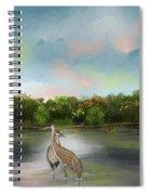 Crane Habitat Spiral Notebook