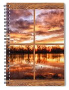 Crane Hollow Sunrise Barn Wood Picture Window Frame View Spiral Notebook