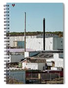Cranes At Metal Factory, Bath Spiral Notebook