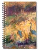 Cranes In The Grain Spiral Notebook