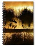 Cranes On Golden Pond Spiral Notebook