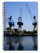 Cranes On The River Bank Spiral Notebook