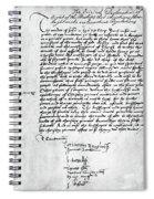 Cranmer Declaration, 1537 Spiral Notebook