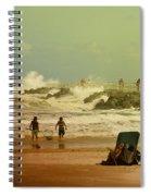 Crash Of The Waves Spiral Notebook