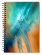 Crashing At Sea Abstract Painting 4 Spiral Notebook