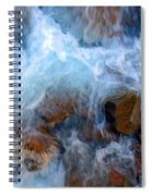 Crashing Falls On Rocks Below Spiral Notebook