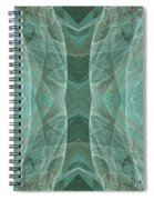 Crashing Waves Of Green 4 - Square - Abstract - Fractal Art Spiral Notebook