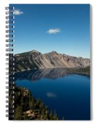 Crater Lake And Boat Spiral Notebook