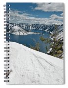 Crater Lake And Wizard Island In June Spiral Notebook