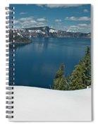 Crater Lake Panorama Spiral Notebook
