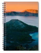 Crater Lake Sunset Spiral Notebook