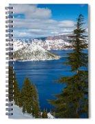 Crater Lake Winter Panorama Spiral Notebook