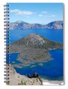 Crater Lake Wizard Island Spiral Notebook