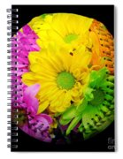 Crazy Daisies Baseball Square Spiral Notebook