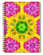 Crazy Daises - Spring Flowers - Bouquet - Gerber Daisy Wanna Be - Kaleidoscope 1 Spiral Notebook