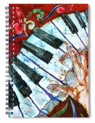 Crazy Fingers Piano Square Spiral Notebook