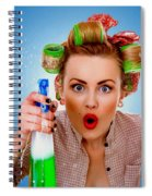 Crazy Girl Cleaning Spiral Notebook