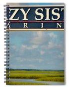 Crazy Sister Marina Spiral Notebook