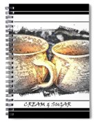 Cream And Sugar - Pottery Spiral Notebook