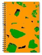 Creamsicle Orange Abstract Spiral Notebook