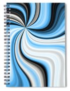 Creamy Blue Graphic Spiral Notebook
