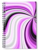 Creamy Pink Graphic Spiral Notebook