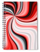 Creamy Red Graphic Spiral Notebook