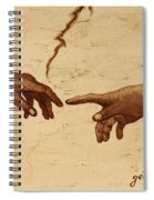 Creation Of Adam Hands A Study Coffee Painting Spiral Notebook