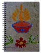 Creative Diya Rangoli Spiral Notebook