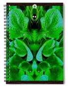 Creatures In The Green Fauna Spiral Notebook