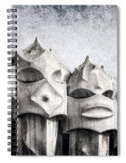 Creatures Of La Pedrera Bw Spiral Notebook