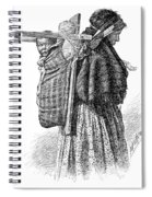 Cree Indian Squaw And Papoose Spiral Notebook