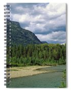 Creek Along Mountains, Mcdonald Creek Spiral Notebook