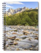 Creek And Castle Crags Spiral Notebook