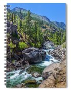 Creek Flowing Through Rocks, Icicle Spiral Notebook