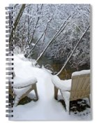 Creekside Chairs In The Snow 2 Spiral Notebook