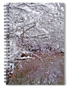 Creekside In The Snow 2 Spiral Notebook