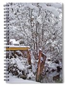 Creekside In The Snow Spiral Notebook
